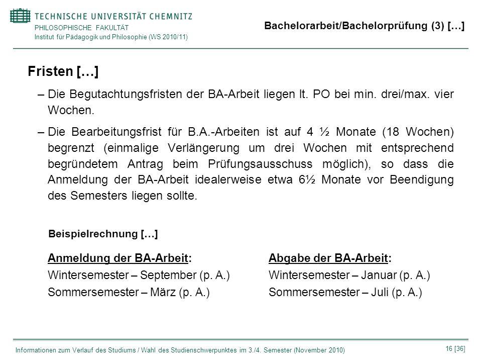 Bachelorarbeit/Bachelorprüfung (3) […]
